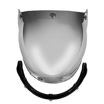 Parabrisas Casco de la Motocicleta del Estilo de la Vendimia Cascos 3 broches de presión Jet