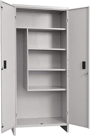 1 unidad armario escobero 2 puertas 40 x 80 x 175 H cm en kit: Amazon.es: Bricolaje y herramientas