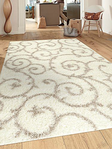 Rugshop Cozy Contemporary Scroll Indoor Shag Area Rug, 5'3