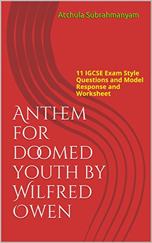 Amazoncom Anthem For Doomed Youth By Wilfred Owen 11