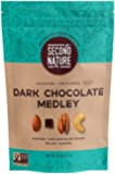 Second Nature Dark Chocolate Medley Trail Mix Healthy Snack - A Nut Lover's Blend of Dark Chocolate Chunks, Almonds, Cashews & Pecans - Non GMO, 26 oz Resealable Pouch