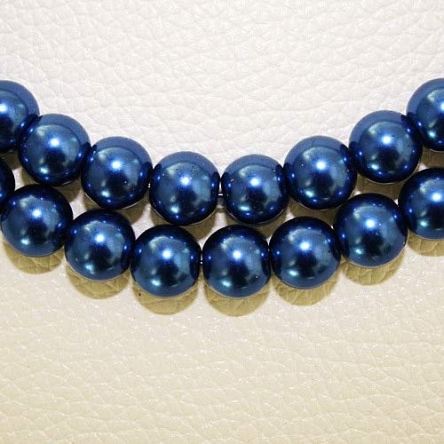 Calvas Latest Designed Approx 195pcs/lot 4mm Navy Blue Glass Pearls for Jewelry Making & DIY Beads BBD010-46 ()