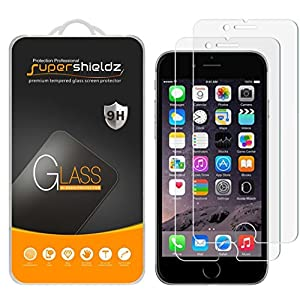 [2-Pack] Supershieldz for iPhone 6/6S Tempered Glass Screen Protector, Anti-Scratch, Anti-Fingerprint, Bubble Free, [3D Touch Compatible] Lifetime Replacement Warranty