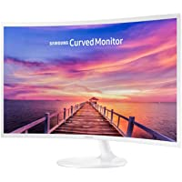 """Samsung 32"""" Curved Full HD LED Monitor, White, LC32F391FWEXXY"""