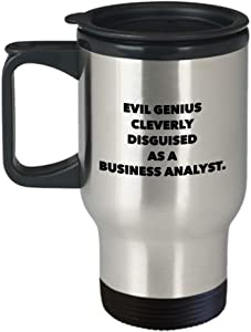 Business Analyst Mug - Travel Mug Gifts For Project Manager CIO CTO Change CFO - Birthday Gifts - Best Funny Name Cup for Co Worker Office Colleague Friend - Novelty Gift Unique Idea Steel Sexy