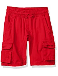Southpole boys Little Boys Mini Canvas Cargo Jogger Shorts in Basic Solid Colors