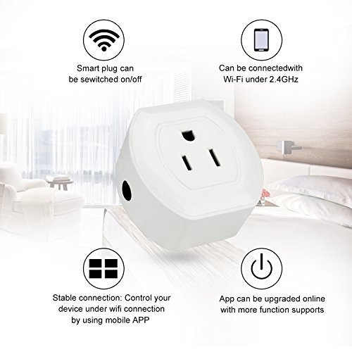 Martin Jerry Mini Wifi Smart Plug Works with Alexa, Google Home, Smart Home Devices to Control Home Appliance from Anywhere, no Hub Required, Wifi Smart Socket (V04) (1 Pack) by Martin Jerry (Image #4)