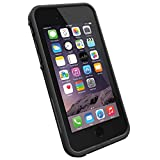 "LifeProof FRĒ iPhone 6 ONLY Waterproof Case (4.7"" Version) - Retail Packaging - Black/Black"