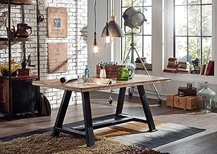 Tavolo da pranzo legno antico 240x100x76 Multicolore laccato ...