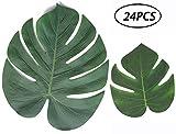 Tropical Leaves Palm Simulation Imitation Leaf-- Luau / Hawaiian/Jungle/ Beach Party Decorations Supplies Summer Flowers
