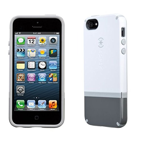 Speck Candyshell Flip iPhone 5s & iPhone 5 Case White / Graphite Grey / Pebble Grey (Iphone 5s Speck Flip Case)