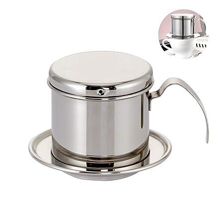 COKFEB Filtro de café, cafetera portátil de Acero Inoxidable ...