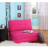 Your Zone Space Saver Flip Chair, Multiple Colors (Racy Pink)