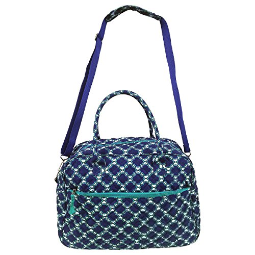 quilted cotton duffle bag - 5