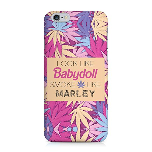 COVER weed Hasch babydoll marley pink lila Design Handy Hülle Case 3D-Druck Top-Qualität kratzfest Apple iPhone 6 6S