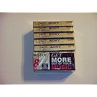 SON8C90HFL Audio Cassettes, High Density/Normal Bias, 90 Minutes (45 x 2), 8/Pack