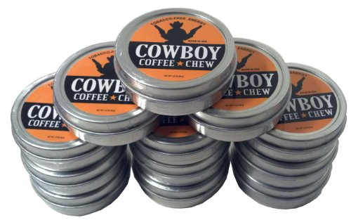 (Cowboy Coffee Chew (Pack of 12) Quit Chewing Tin Can Non Tobacco Nicotine Free Smokeless Alternative to Dip Snuff Snus)
