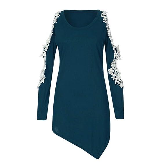 Tops Camisetas Mujer, BBestseller Otoño e Invierno Blusas para Mujer Vaquera Sexy Camisas Mujer Encaje