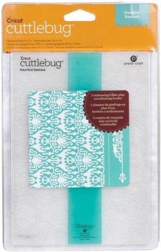 Cuttlebug Cricut Embossing Folder, Haunted Damask, 5-Inch by 7-Inch