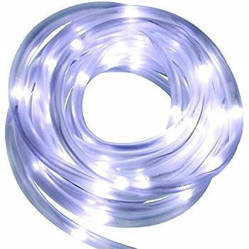 solar rope tube white 50 led string garden light inside outside 16