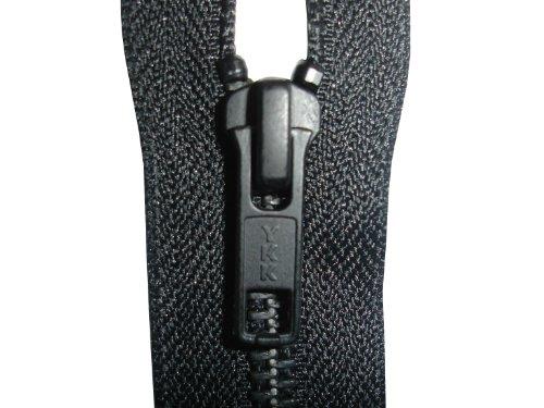 YKK Open End Zip - Black Metal Tooth/Finish - Heavy Duty - Hd-3 - 6/7/8/9/11/16/17/18/19/20/21/22/23/24/25/26/27/28/29/30/31/32/33/34/35/36/37/38/39/40 Inch (24 Inch (61 Cm)) Black