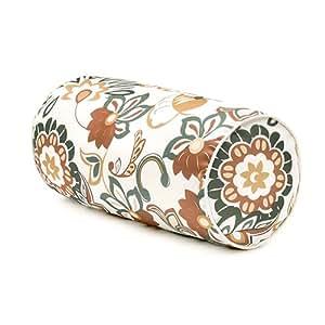 Diseño de flores DORADO Collection Gardenista® con estampado de cojín cilíndrico cojín que hace de exterior de capa resistente al agua