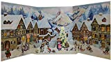 Little Mountain Village In Winter -Large Fold Out German Advent Calendar