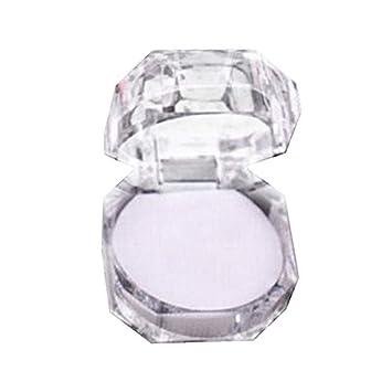 Doitsa Ringschachtel Transparent Acryl Ring Kasten Ringetuis 4 Weiss 4cm Geschenk Kasten Schmuckdose Verpackung