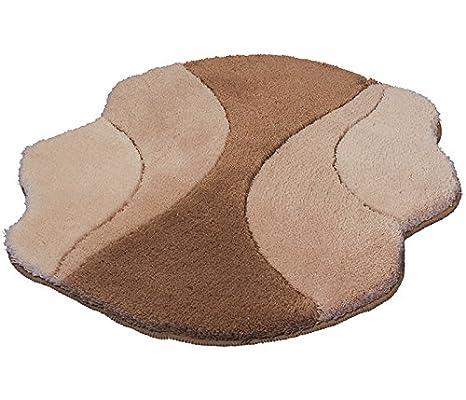 Kleine Wolke Excelsior - Tappetino da bagno 60 x 60 cm mit Ausschnitt beige 4031271144