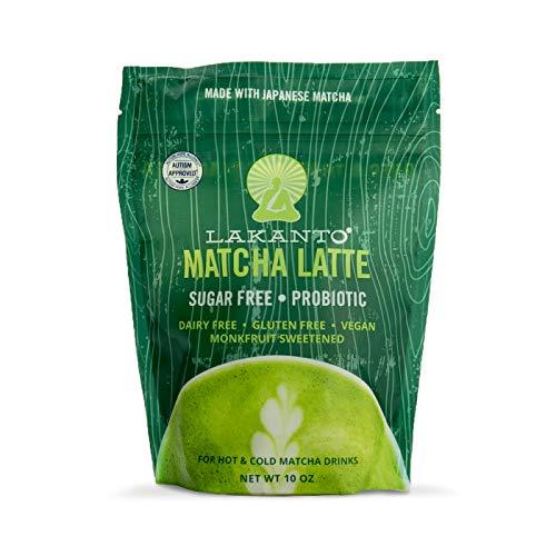 Lakanto Matcha Latte, Green Tea Powder with Probiotics and Fiber, Keto (10 Ounce)