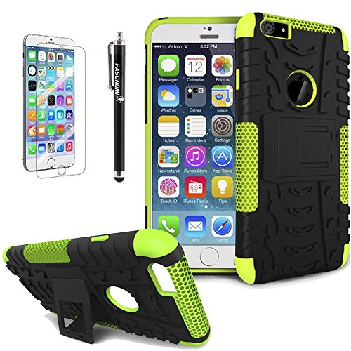 Pasonomi iPhone 6 Case - Heavy Duty Rugged Dual Layer Holster With Kickstand 2014 New Smartphone Case for Apple iPhone 6 With 4.7 Inch Screen (Green)