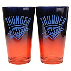 NBA 16 oz. 2-Tone Pint Glass Set
