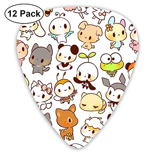 Anticso Custom Guitar Picks, Cute Kawaii Cats Dog Guitar Pick,Jewelry Gift For Guitar Lover,12 Pack ()