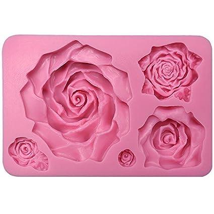 musykrafties grande surtido de 5 rosas Resina Fondant Caramelo Molde silicona para modelado azúcar,decoración