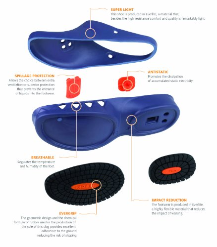 Professionali Negro Dell'impatto Nube Calzature Riduzione Antistatiche;leggerissime; Antiscivolo; Wock 4E8qx