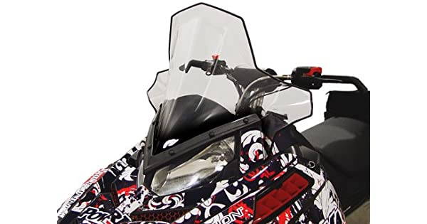 Mid height Clear with black fade PowerMadd 11830 Cobra Windshield for Polaris Pro-Ride Chassis