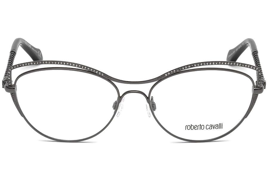 Roberto Cavalli RC5041 Eyeglass Frames - Shiny Gun Metal Frame, 55 ...