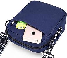 de513f5390fef iR547s Small Square Crossbody Travel Pouch Shoulder Bag, Navy: Amazon.ae