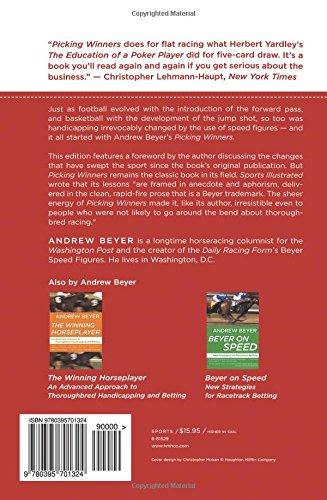 Picking Winners Horseplayers Guide Amazon Andrew Beyer