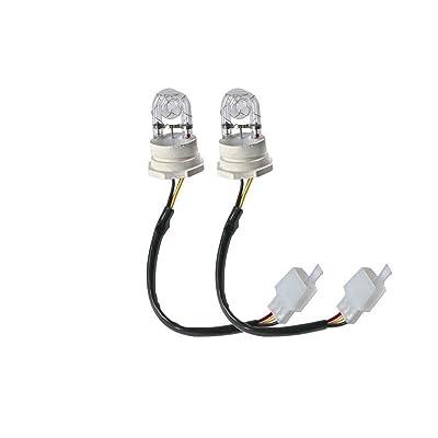 SMALLFATW 2 White Hide Away Strobe Tube for 80w / 120w / 160w Kits Headlight Replacement Bulbs: Automotive