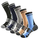 NEEKFOX 5 Pack Men's and Women's Cushion Crew Hiking Socks Multi Performance Outdoor Sport Moisture Wicking Socks