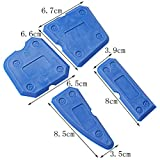 Color Scissor 8 Pieces Caulking Tool Scraper Kit Sealant Finishing Tools For Bathroom Kitchen and Floor Sealing, Blue