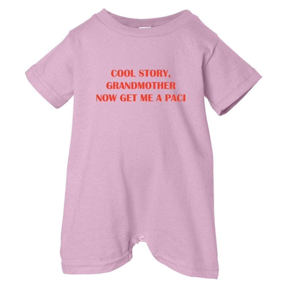 So Relative Unisex Baby Cool Story Grandmother Get Paci T-Shirt Romper