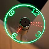 The Source USB LED Clock Fan