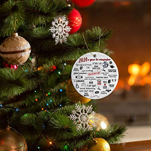 2020 A Year to Forget, Remember 2020 Christmas Ornament Quarantine 2020 Events Keepsake