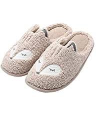 Women's Cute Animal Slippers Soft Fleece Memory Foam Home Slippers Indoor for Girls House Shoes