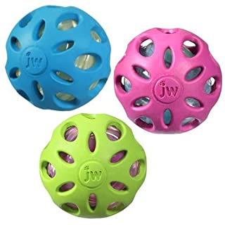 """Crackle Heads Ball Dog Toy [Set of 3] Size: Small (6"""" H x 2"""" W x 2"""" L), Color: Assorted"""