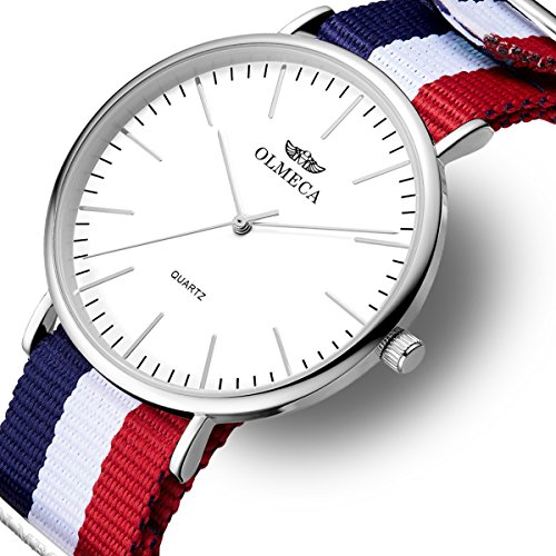 Men's Watches Luxury Wristwatches 41mm Simple Dial-Japanese Quartz Movement-Replaceable Multi-Color Band (Japanese Watch Quartz Movement)