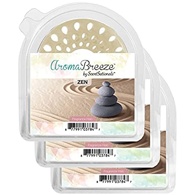 Zen Aroma Breeze Scented Halo 3 Pack - Flameless Replacement for Scented Candles - Great Addition to Your Home Scents Collections *CLEARANCE ITEM
