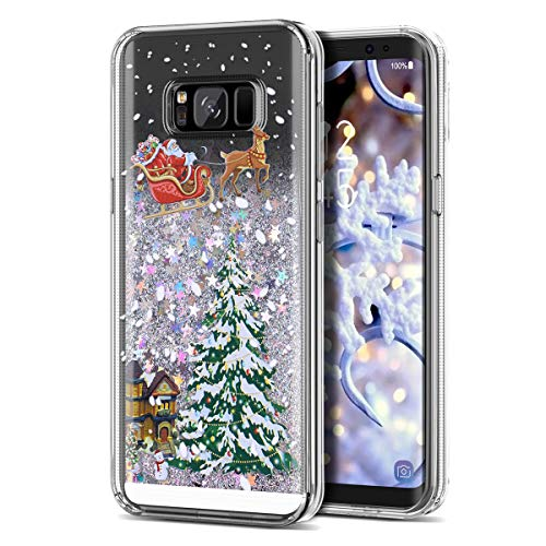 - Galaxy S8 Case, CinoCase 3D Creative Liquid Case [Christmas Collection] Flowing Quicksand Moving Stars Bling Glitter Snowflake Christmas Tree Santa Claus Pattern Soft TPU Case for Samsung Galaxy S8